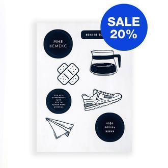 Наклейки Стикеры AIRAD STICKERS (S3) Бумажные наклейки Наклейки для блокнота Подарки для девочек