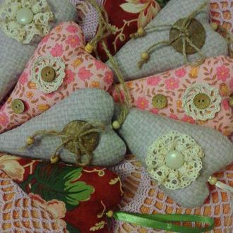 Сердечка-тільда текстильні сувенірні