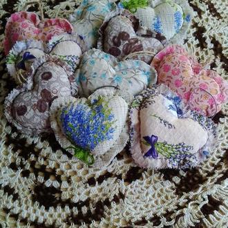 Сердечки текстильные сувенирные, Валентинка
