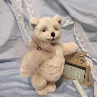 мишка тедди Ириска, подарок девочке, девушке, коллекционная игрушка, интерьерная игрушка, шебби