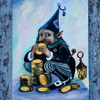 """Картина """"Хранитель денег""""  30*40см"""