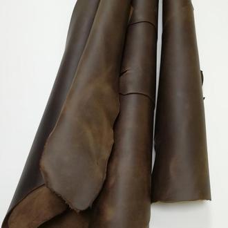 Натуральная кожа  Crazy Horse 1.5-1.7 мм темно-коричневый (шоколадный)