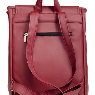 Модный вместительный удобный женский рюкзак бордовый