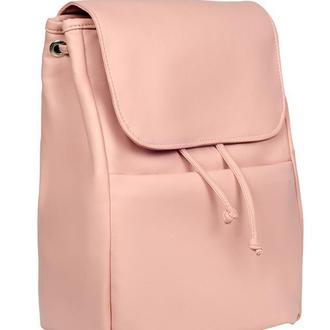 Модный удобный женский рюкзак розовый