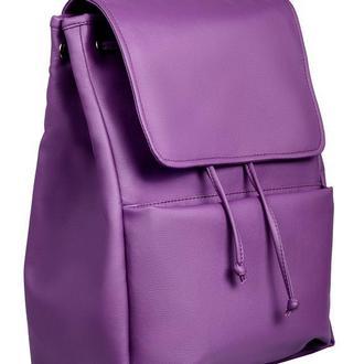 Модный удобный женский рюкзак фиолетовый