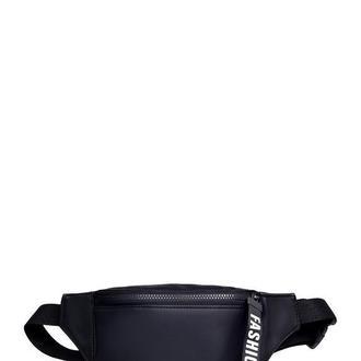 Женская бананка черная поясная сумка