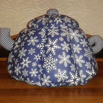 Грелка на чайник Снежинка - эксклюзивный подарок на Новый год