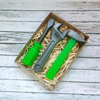 """Набор мыла """"Инструменты"""" (зеленый)"""