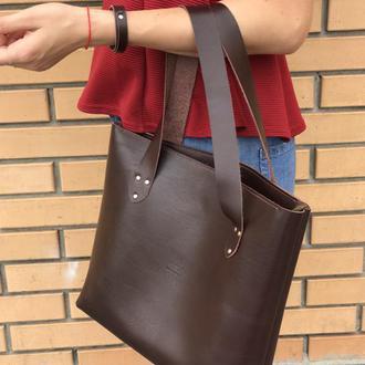 Кожаная женская сумка-шоппер. Арт. 06001