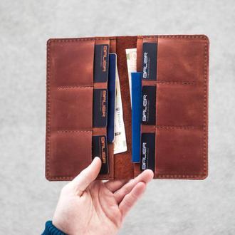 Большой кожаный портмоне. Арт. 08001