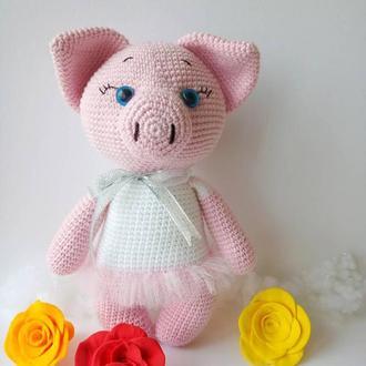 Свинка. Вязаная свинка.