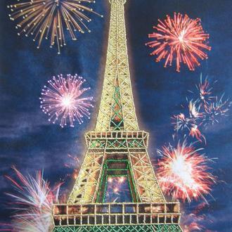 """Вышитая картина бисером """"Праздничный Париж"""", подарок"""