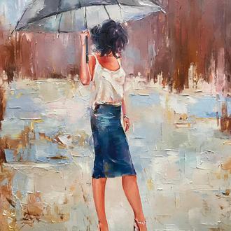 "Картина маслом ""Летний дождь"""