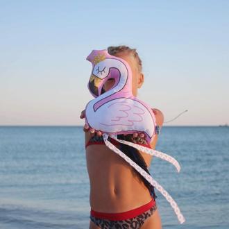 Фламинго малыш с короной, 25см