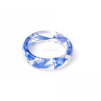 Кольцо с синими васильками