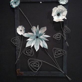 "Картина ""Фантазийные цветы"""