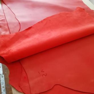 Обувная кожа Crazy Horse 1.4-1.6 мм. Красный цвет