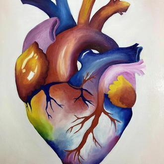 Картина «rainbow heart»