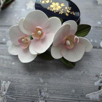 "Заколка для волос ""Веточка орхидеи"""