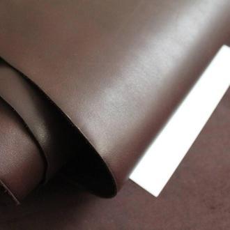 Натуральная кожа Краст 1.8-2 мм плотная. Цвет - шоколадный