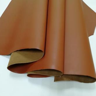 Натуральная кожа Краст 1.8-2 мм плотная. Цвет - коньяк.