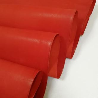 Натуральная кожа Краст 1.8-2 мм плотный. Цвет-красный