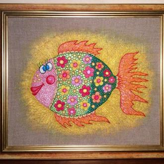 "Вышитая картина ""Рыба Счастья»"