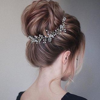 Свадебное украшение для волос, веточка в прическу, украшение в прическу невесты