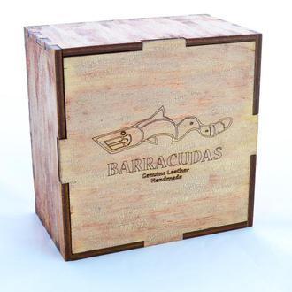 Подарочная коробка искусственно состаренная (кракелюр) с индивидуальной гравировкой