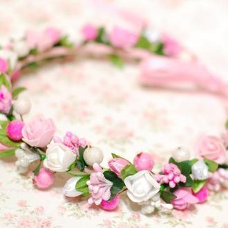 Нежный венок веночек с цветами
