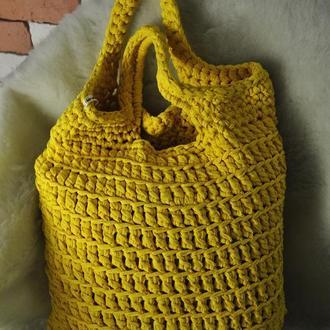 Сумка вязаная, торбочка, цвета в ассортименте / Сумка в'язана, торба, кольори в асортименті