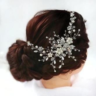 Веточка в прическу. Свадебное украшение для волос