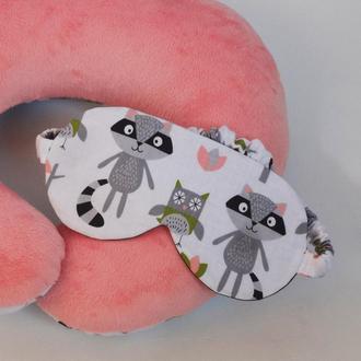 Маска для сна - еноты, маска для сна - совы, маска для сна - белка