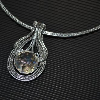 Колье ручной работы Магический кристал