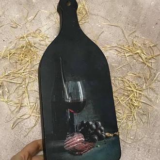 """Сырная доска """"Бутылка вина"""""""