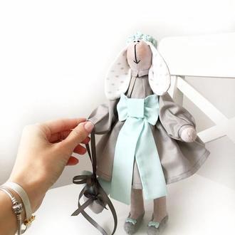 Зайка Tiffany тильда оригинальный подарок дочке подруге любимой маме