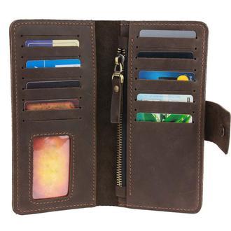 Именной кошелёк с гравировкой, мужской кошелёк, женский кошелек, портмоне Type 2 Темно-коричневый