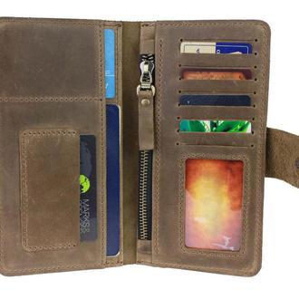 Именной кошелёк с гравировкой, мужской кошелёк, женский кошелек, портмоне Type 4 черный