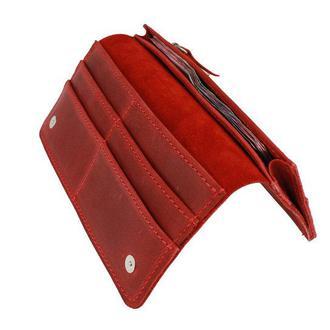 Именной кошелёк с гравировкой, мужской кошелёк, женский кошелек, портмоне Type 5 Красный