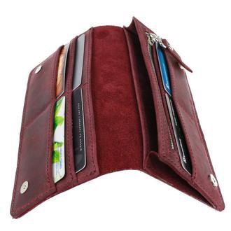 Именной кошелёк с гравировкой, мужской кошелёк, женский кошелек, портмоне Type 5 Марсала