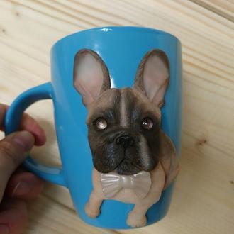 Чашка с любимым питомцем (французский бульдог)