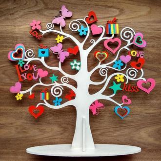 Дерево для украшений, подставка под драгоценности и бижутерию