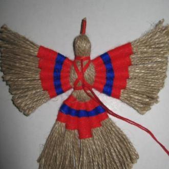 Кукла-мотанка Птица счастья, оберег, подарок