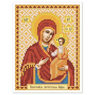 """Схема для вышивки бисером иконы  """"Богородица Иверская""""   № 00489"""