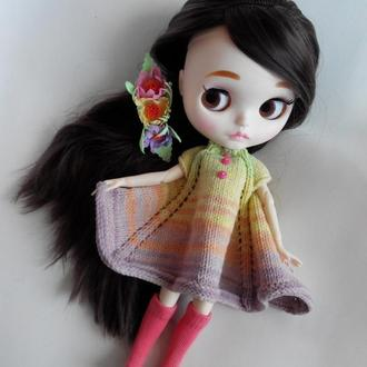 Комплект платье, гольфы, заколка для куклы Блайз, Айси
