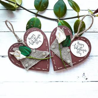 Валентинка-открытка на День Святого Валентина