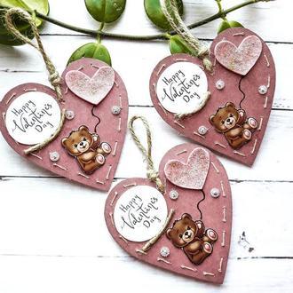 Валентинка для ребенка-открытка на День Святого Валентина