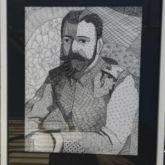 """Графика. """"Портрет Николая 2"""""""