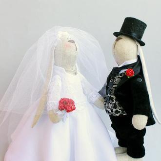 Свадебная пара зайчиков
