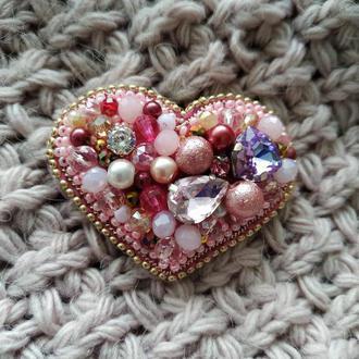 Брошь Сердце